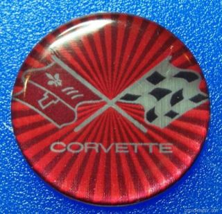 Red Corvette Wheels Rims Emblems Decals Stingray 67 68 69 70 71 72 75