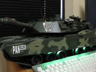 32Giant Panzer Miltary Battle R C Lifelike Tank Fires 6mm BBs Pre