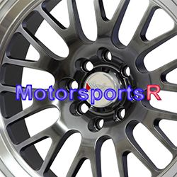 Chromium Black Machine Wheels Rims Deep Dish Lip 4x100 90 Miata