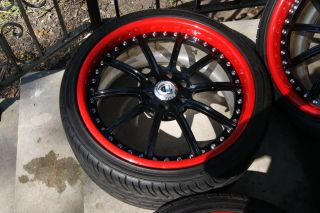 Cts V STS V asanti 20 AF 134 Black Red Wheels Tires