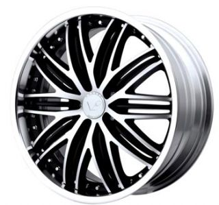 20x8.5 Black Venti Plus VP106 Wheels 5x4.5 +40 LEXUS SE 330 SC 300 HS