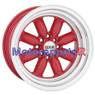 15 8 XXR Red 513 Wheel Rims Toyota AE86 Scion XA XB JDM