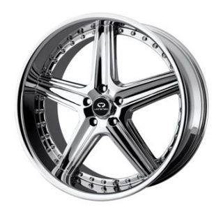 20x8 5 Chrome Wheels Rims Lorenzo WL019 5x112