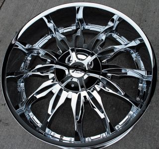 RVM 107 26 Chrome Rims Wheels Tahoe Avalanche Escalade