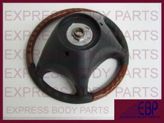 W220 Mercedes Steering Wheel Leather Wood S500 S430 S600 s Black Light
