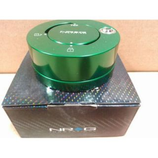 NRG Quick Release Steering Wheel Hub Lock for All Generation Green SRK