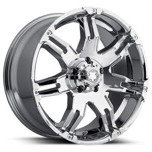 15 inch Ultra Gauntlet Chrome Wheel Rim 5x5 5x127 Lifted Jeep Wrangler