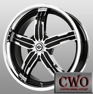 18 Chrome Black Ice Sigma Wheels 5x110 5x115 5 Lug G6 Malibu HHR cts