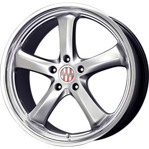 New 19X9.5 5 130 Turismo Hyper Silver Machined Wheel/Rim