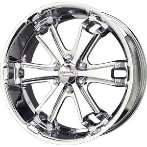 New 20x9 6x139 7 Liquid Metal Dyno Chrome Wheels Rims