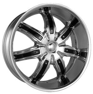 22 inch Azari 283 Black Wheels Rims 5x115 Charger 300C Magnum