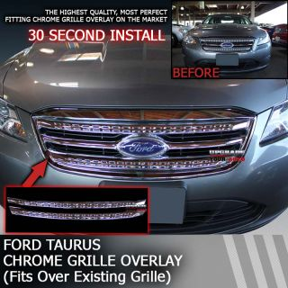 Perfectly Fits 2010 2012 Ford Taurus Chrome Grille Overlay Factory