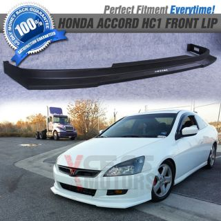 Fit 06 07 Honda Accord Coupe HC1 Style Front Bumper Lip Spoiler PP