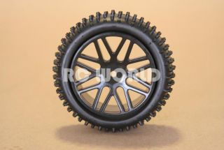 RC 1 10 Buggy Rims Tires Wheels Kyosho Tamiya Narrow Spike