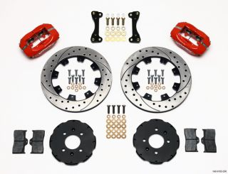 Wilwood Disc Brake Kit Complete Honda Acura 12 Red DRL