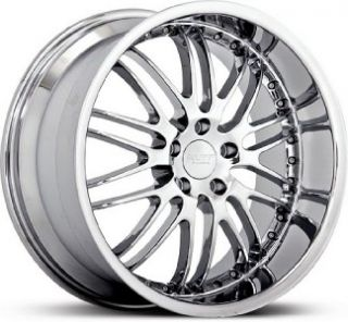 18 inch Ruff Racing 281 Staggered Chrome Wheels 5x114 3