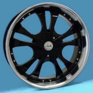 18x7 5 Anella Fighting Star Wheels Black Rims Wheels 5x100 5x4 5