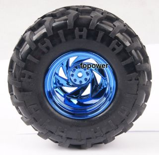 RC Rubber Sponge Tires Tyre Wheel Rim 1 10 Monster Bigfoot Car Truck