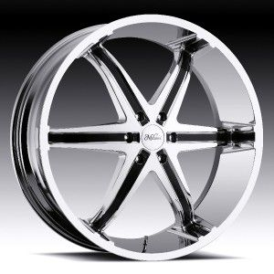 26 inch Milanni Kool Whip Chrome Wheels Rims 5x5 5x127