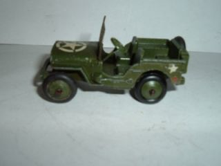 Dinky Toy 153A US Army Jeep Used Vintage See Photos