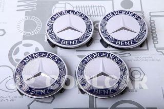 X4 Genuine Mercedes Benz Wheel Center Caps C E s SL SLK CL CLS CLK ml