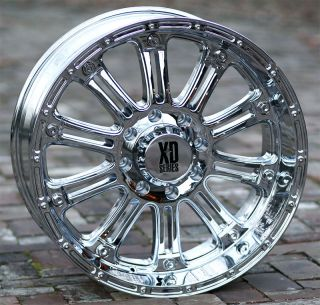 18 inch Chrome Wheels Rims XD 795 Ford F250 350 Superduty 8 Lug Trucks
