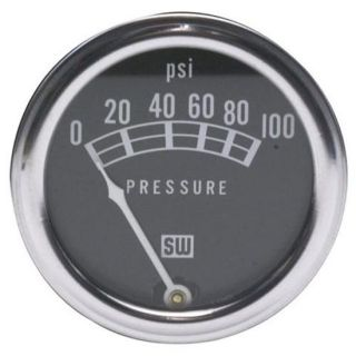 New Stewart Warner Standard Mechanical Oil Pressure Gauge 2 1 16 Black