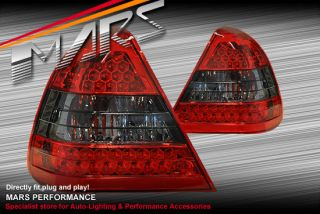 Smoked Red LED Tail Lights Mercedes W202 C43 C36 C180 C200 C240 C280