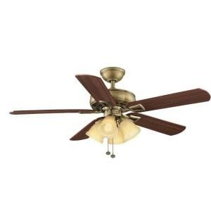 Hampton Bay Lyndhurst 52 Antique Brass Fan New in Box