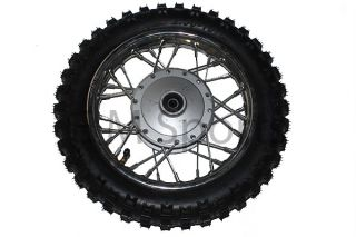 Dirt Pit Bike 10 Front Wheel Rim Tire Combo 2 5 x 10 Coolster Parts