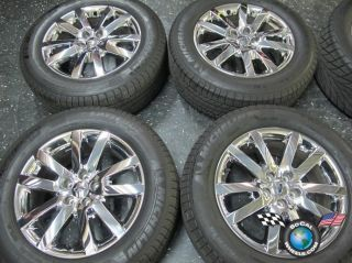 Four 211 12 Ford Edge Factory 18 Chrome Clad Wheels Tires OEM Rims