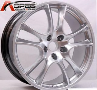 20x9 Silver Porsche Cayenne Base GTS Turbo s Wheel 50