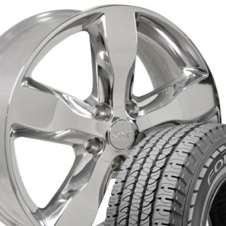Jeep Grand Cherokee Polished Wheels Rims Goodyear Fortera 265 50 Tires