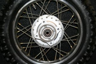 Honda CRF70 Rear Wheel Hub Rim Spokes