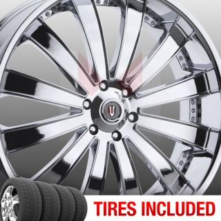 of 4 New 22 Versante 225 5x114 3 38 Wheels Tires Rims Chrome