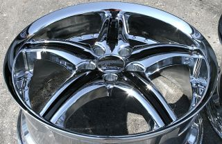 CATTIVO 730 20 CHROME RIMS WHEELS / 20 x 8.5 & 20 x 9.5 NISSAN 350Z