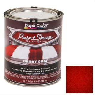 Dupli Color Paint Lacquer Translucent Candy Apple Red 1 Quart ea