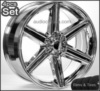 20 6LUG IROC Wheels and Tires Escalade Chevy Rims H3 Silverado Yukon