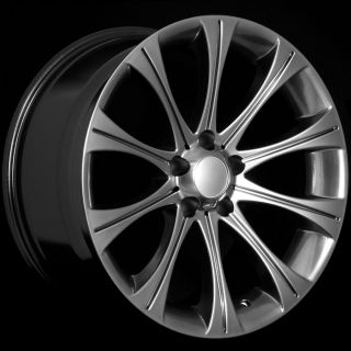 Staggered Hyper Black Wheels Rims Fit BMW 323i 325i 328i 330i 335i