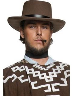 Adult Mens Wandering Gunman Hat Cowboy Smiffys Fancy Dress