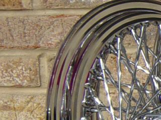 21X2.15 FRONT & 16X3 REAR 80 SPOKE TWISTED CUSTOM CHOPPER WHEEL SET