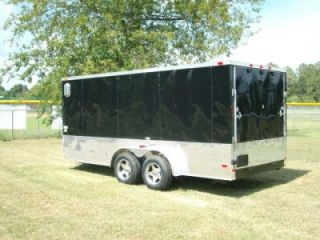 7x16 Double Motorcycle Enclosed Trailer Cargo ATP Sport Motorcycle