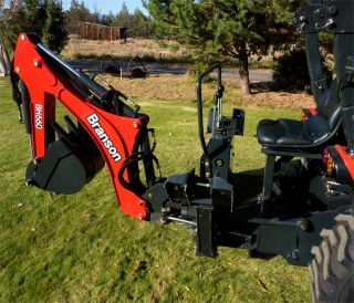 New Branson 28HP TURBOCHARGED Diesel Tractor 4WD Hydro Loader Backhoe