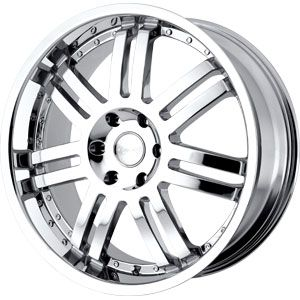 New 20x9 6x139 7 Black Rhino Chrome Wheel Rim