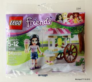 LEGO Friends Polybag 30106 Emma Ice Cream Stand Cart 2013 In Stock NEW