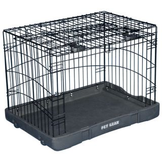 Pet Gear Travel Lite Double Door Steel Crate   Summer PETssentials   Dog