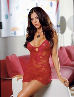 O120 Sexy lingerie Red Lace Babydoll Dress + G String