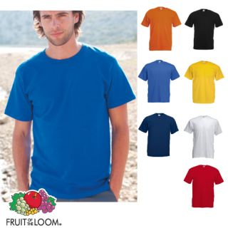 10 Stück FRUIT OF THE LOOM T Shirt Shirt farbig S XXXL