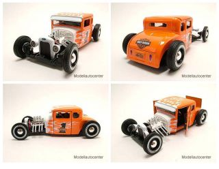 Ford Model A 1929 Hot Rod Harley Davidson orange/weiß, Modellauto 1