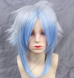 259 Hiiro no Kakera Silver White mix ice blue Cosplay Costume Wig